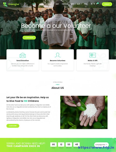 greengive-fundraising-wordpress-theme