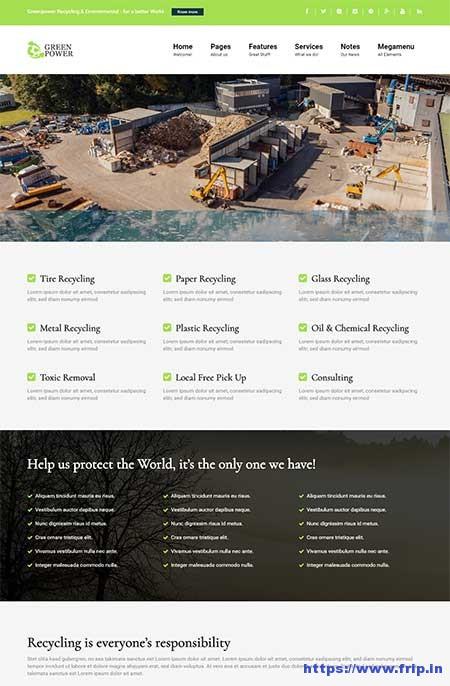 Greenpower-WordPress-Theme