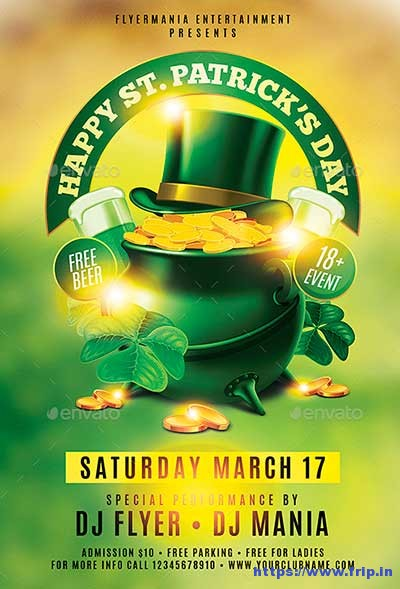 Happy-St-patrick-day-flyer