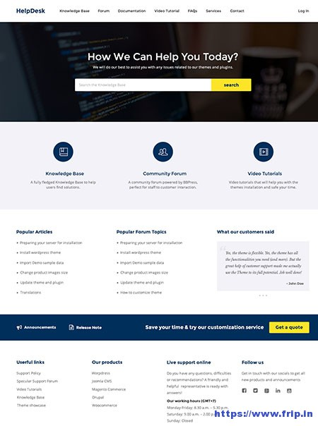 knowledge base wordpress themes