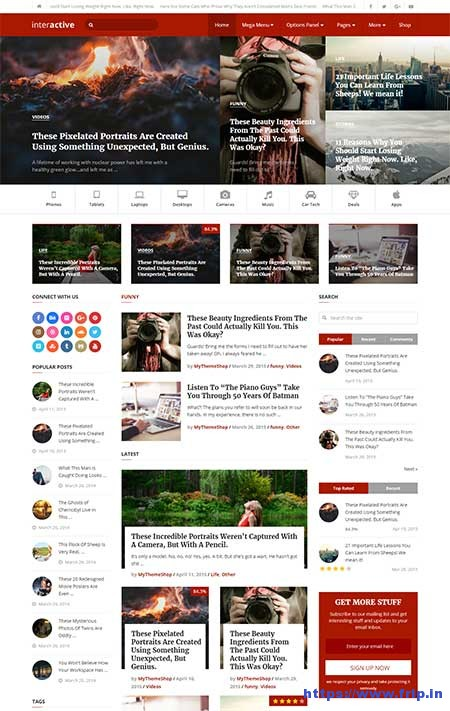 Interactive-wordpress-blog-theme