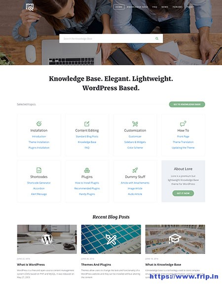 Lore-Knowledge-Base-WordPress-Theme