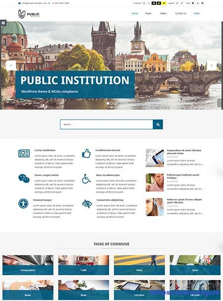 Public-Institutions-WordPress-Theme