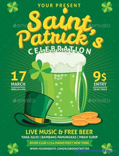 Saint-Patrick-Celebration-Flyers