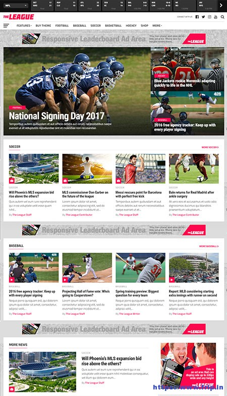 The-League-Sports-News-WordPress-Theme