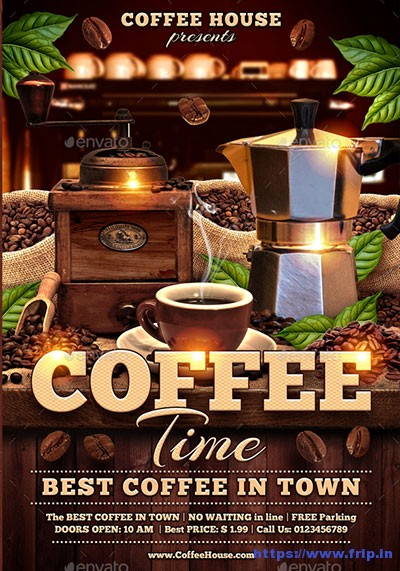Coffee-Time-Flyer-Template