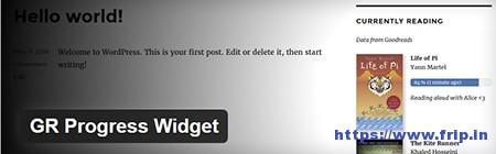 GR-Progress-Widget-Plugin