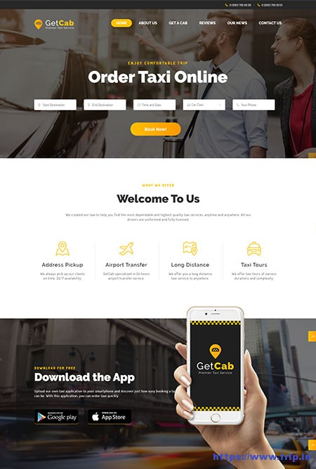 Getcab-Online-Taxi-Service-Theme