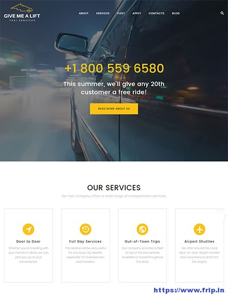 Give-Me-Lift-Taxi-Services-WordPress-Theme