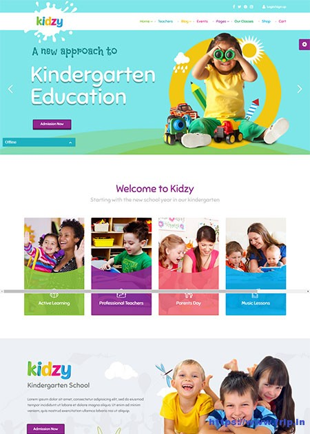 Kidzy-Kindergarten-&-Preschool-WordPress-Theme