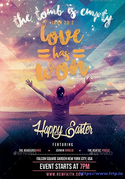 Love-Has-Won-Happy-Easter-Church-Flyer