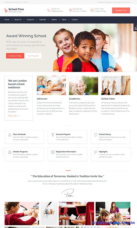 School-Time-Education-WordPress-Theme