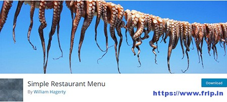 Simple-Restaurant-Menu-Plugin
