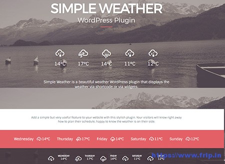 Simple-Weather-WordPress-Plugin