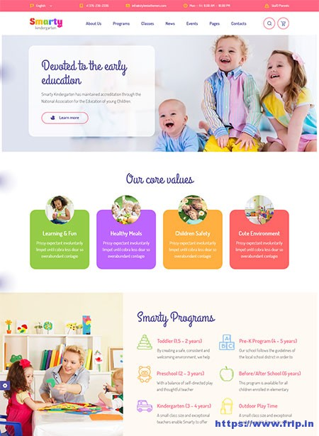 Smarty-Kindergarten-WordPress-Theme