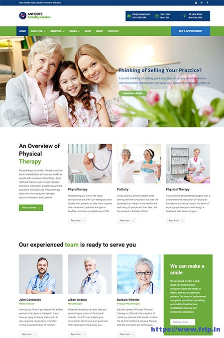 Antidote-Physical-Therapy-WordPress-Theme