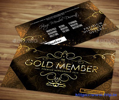 Golden-Loyalty-Card-Template
