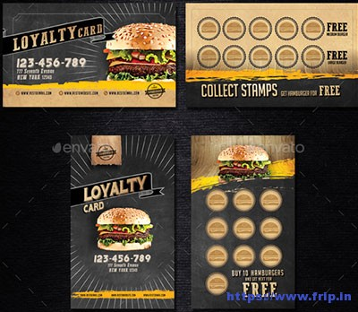 Hamburger-Voucher-Loyalty-Card