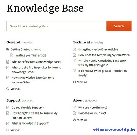 Herioc-Knowledge-Base-WordPress-Plugin