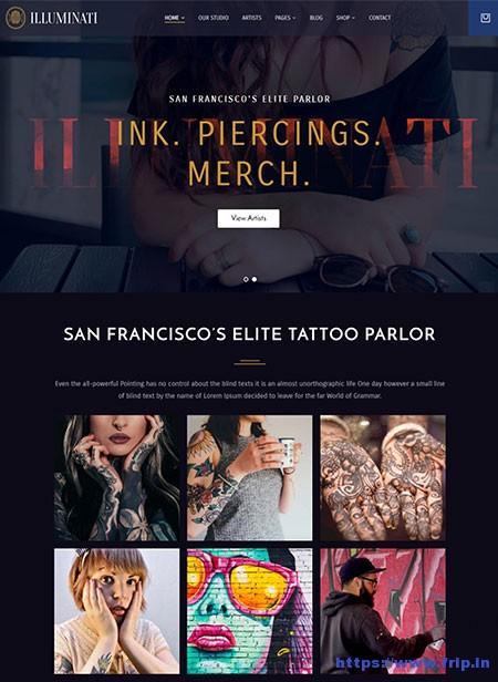 Illuminati-Tattoo-Parlor-WordPress-Theme