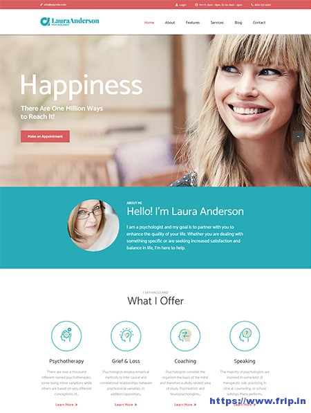 Laura-Anderson-Psychologist-WordPress-Theme