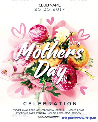 Mothers-Day-Celebration-Party-Flyer