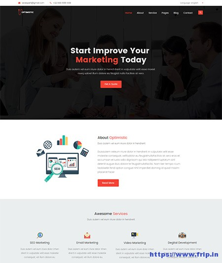 Optimistic-SEO-&-Marketing-Template