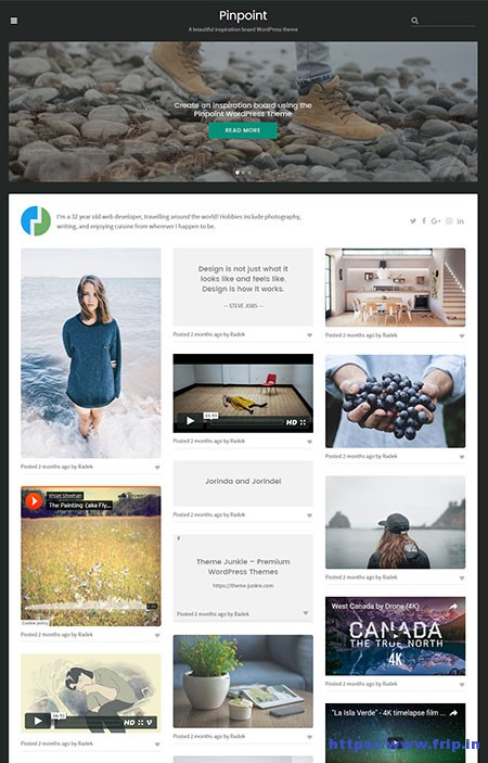 PinPoint-Grid-Based-Portfolio-WordPress-Theme
