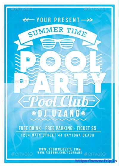 Pool-Party-Summer-Time-Flyer