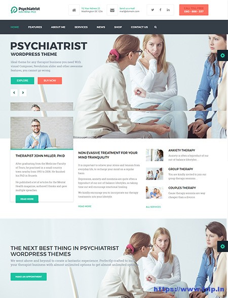 Psychiatrist-WordPress-Theme