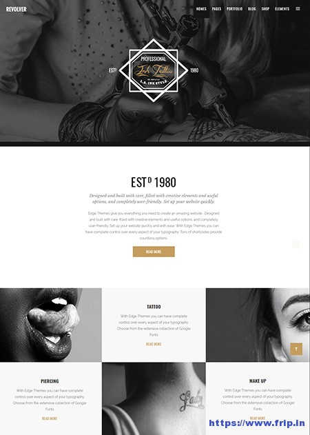 Revolver-Tattoo-Salons-WordPress-Theme