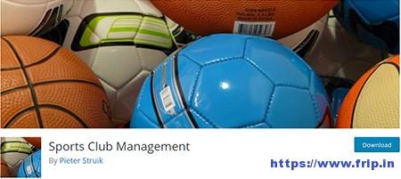Sports-Club-Management-Plugin