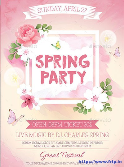 Spring-Party-Flyer-Template-V3