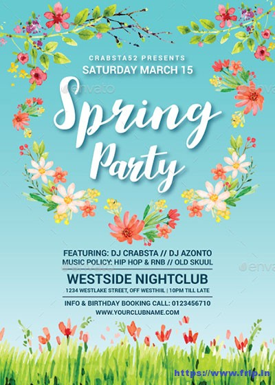 Super-Spring-Party-Flyer-Template