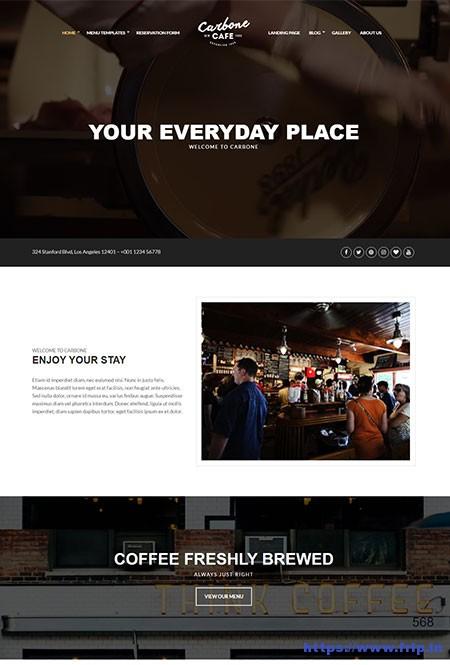 carbone-cafe-wordpress-theme