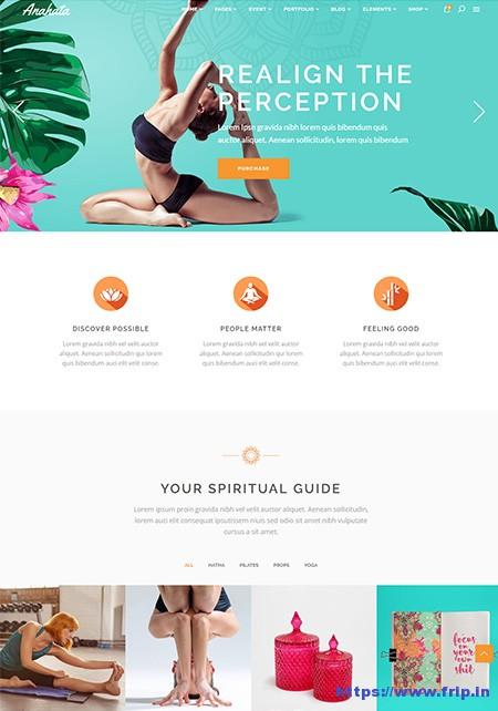 Anahata-Yoga-WordPress-Theme