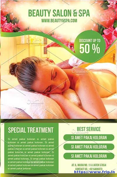 spa flyer templates