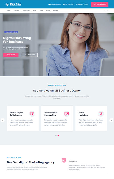 Bee-SEO-Marketing-WordPress-Theme
