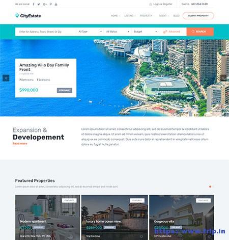 City-Estate-Real-Estate-WordPress-Theme