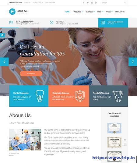 Dent-All-Dental-Clinic-WordPress-Theme