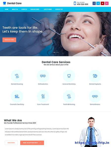 Dental-Care-Pro-Medical-WordPress-Theme
