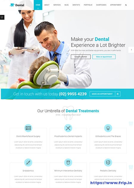 Dental-Health Medical WordPress-Theme