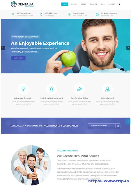Dentalia-Dentist-&-Medical-WordPress-Theme