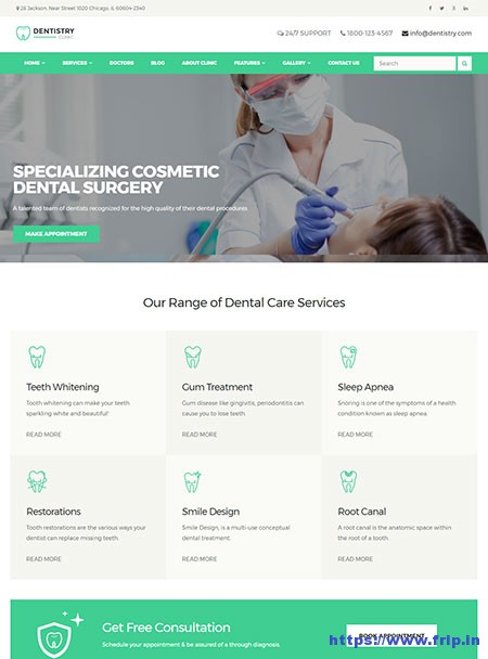 Dentistry-Dental-Clinic-WordPress-Theme