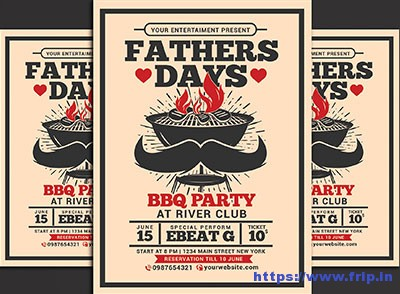 Fathers-Day-BBQ-Party-Flyer