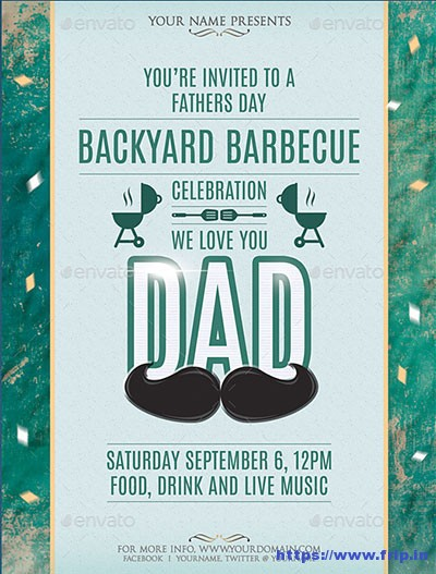 Fathers-Day-Barbecue-Flyer