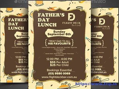 Fathers-Day-Lunch-Flyer-Template