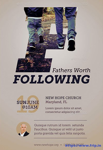 Fathers-Worth-Flyer-Poster-Template