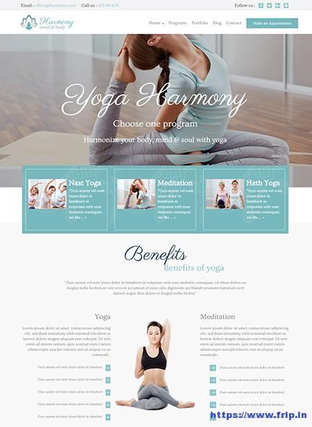 Harmony-Yoga-WordPress-Theme