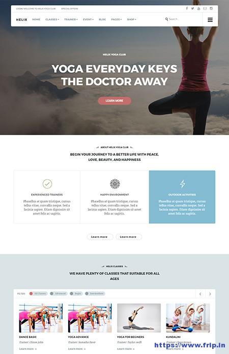 Helix-Yoga-Club-WordPress-Theme